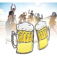 Colinsa partybrille, 14* 11.5cm Playa Decorativo Divertido Vasos Oktoberfest Party Supplies Pelotas Cerveza Moldeada Vasos para Unisex Niños y Adultos