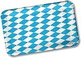 50 Teller Bayern / Oktoberfest von DH-Konzept // 18cm x 11cm // rechteckige Pappteller Party Geburtstag Bavaria Blau Weiss