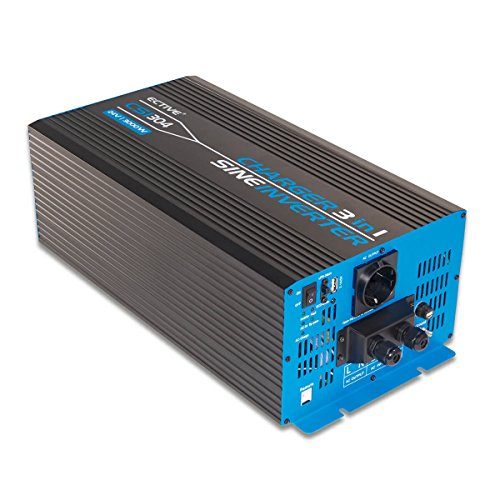 ECTIVE 3000W 12V zu 230V CSI-Serie Reiner Sinus Wechselrichter mit Batterie Ladegerät und NVS in 7 Varianten: 300W - 3000W