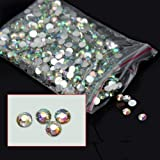 #6: 1000pcs 4mm Flatback Crystal 14 Facets Half-Round Shiny Rhinestone Beads for For Decoration, Jewelry Accessories, Nail Art, DIY