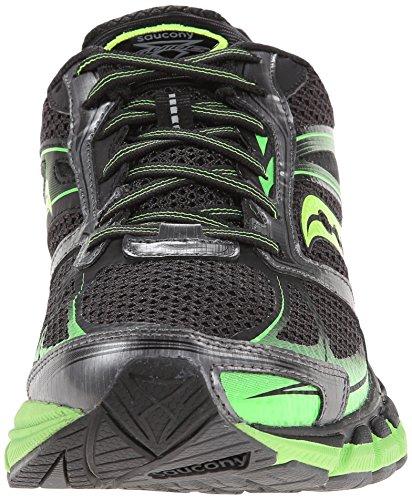 Saucony Mens Guide 8 Running Shoe,Black/Slime/Citron,13 W US Black / Slime / Citron