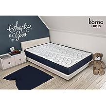 KAMA HAUS Colchón Viscoelástico Roll 90x190 cm. | con Viscoelástica Calidad Premium Adaptable | Tejido