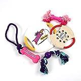 Naisicatar Spielseil für Hunde, 5-teilig, Spielzeug für Welpen, Baumwolle, Spielzeug zum Kauen, langlebig für kleine Mähne und große Haustiere, interaktives Hundespielzeug, Baumwollseil (18,5 cm)