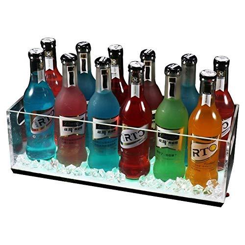 XSWZAQ-bt LED Square Color Changing Ice Bucket Bierfass - 7 Farbumwandlungslichter - Mit Griff - Wiederaufladbar - Bar, Nachtclub, Party (größe : 9 Bottles)