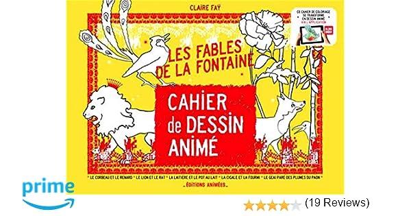 Cahier De Dessin Animé Les Fables De La Fontaine Amazonfr Claire