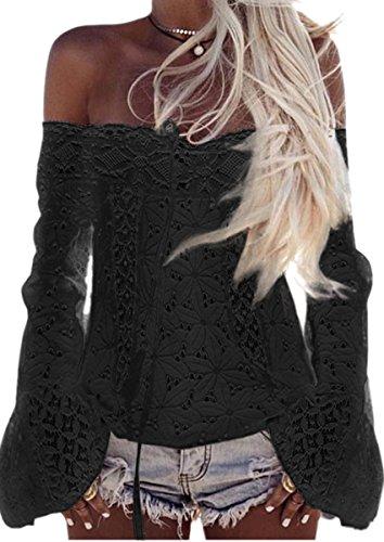 Ecowish - Camicia - Giacca -  donna Black