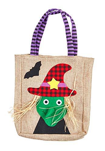 knusper.haus Kinder Beutel/Jutebeutel Halloween Hexe (25 x 20 cm) Halloween ()