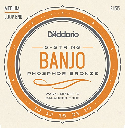 D`Addario Banjo 5-String Phosphor Bronze Medium