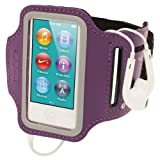 igadgitz U2135 Sports Armband für Apple iPod Nano 7. Generation 16GB 7G Oberarm Tasche - Lila