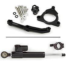 rzmmotor‒Estabilizador del amortiguador de dirección de la motocicleta con soporte de montaje