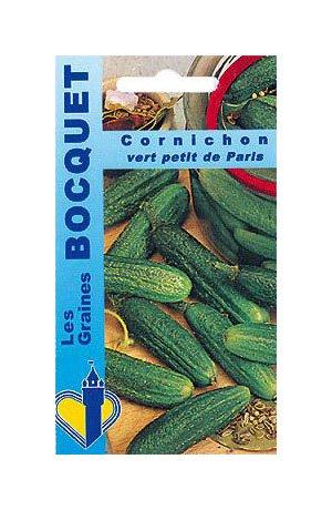 Les Graines Bocquet - Graines De Cornichon Vert Petit De Paris - Graines Potagères À Semer - Sachet De 3Grammes
