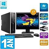 HP PC Compaq Pro 6300 SFF I7-3770 4Go 250Go Graveur DVD WiFi W7 Ecran 17'