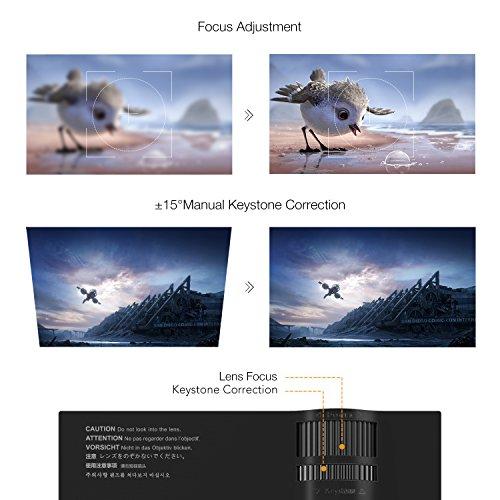 APEMAN Mini LCD Beamer mit 1200 Lumen Unterstützt Videospiele 1080P HD - 5