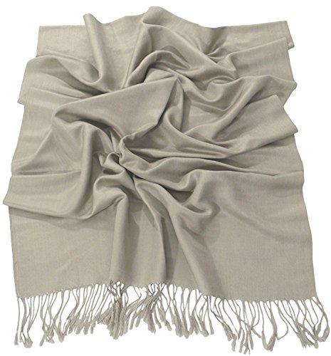 Visón Diseño Sólido Color Chal Pashmina Abrigo