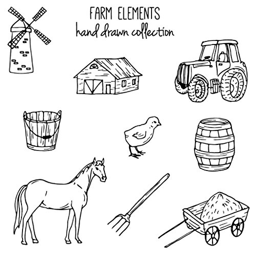 (Hothap Farm Elements Transparent Silikon Klar Stempel Für Scrapbooking DIY Album Dekoration)