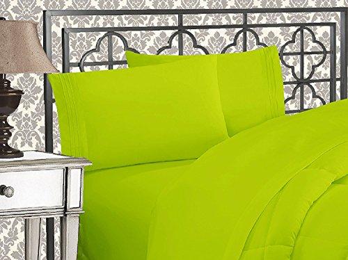 Eleganten Komfort 4Stück 1500Fadenzahl Luxuriös Ultra Weich Ägyptische Qualität coziest-Bettlaken-Set, Mikrofaser, lime, Twin/Twin XL