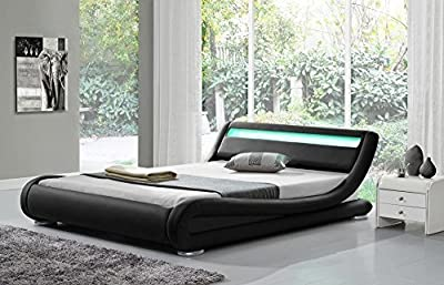 Madrid Black LED (KING) Bed Frame - inexpensive UK light shop.
