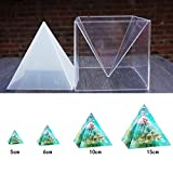LANSEYQO Super Pyramide Form für Harz Handwerk Schmuck Silikon Form + Kunststoff Rahmen