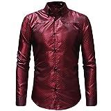 Innerternet Herren Hemd Slim-Fit Langarm Herren Hemden Mode Kariert Bluse Freizeithemd Freizeit Hochzeit Arbeit Business Super Qualität