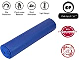 #1: Easypro Fitness Non Slip Yoga Mat 6 mm For Men & Women (Blue Color) Pattern#866