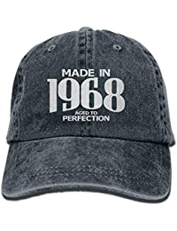 Lmunxuy Aged to Perfection 1968 50th Birthday Hipster Unisex Denim Jeans  Adjustable Baseball Hat Hip- 760767afc663
