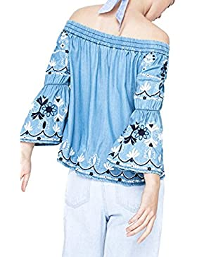 Pepe Jeans Blusa Mujer PL302311 Hope Azul