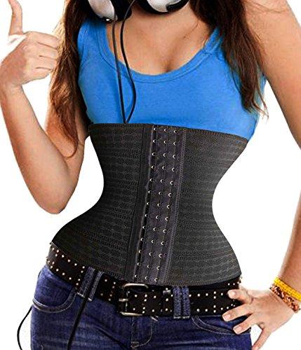 Bingrong Frauen-Bauch-Abnehmen Shapewear Thermo GUrtel Taille Training Cincher (X-Large, Schwarz) (Einfach Schlanker Mann Kostüm)