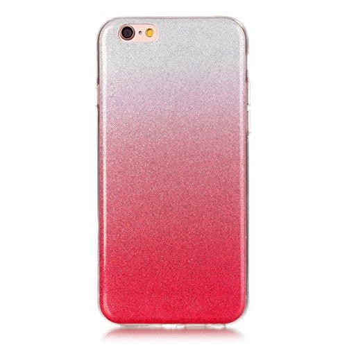 iPhone 6S Plus Coque, iPhone 6 Plus Coque, Lifeturt [ Bleu ciel ] Etui Transparent élégant TPU Gel Coque Silicone Shell Housse 3D Case Cover Motif Impression Creative Ultra Mince Cas Sac Skin Protecti E02-Rouge