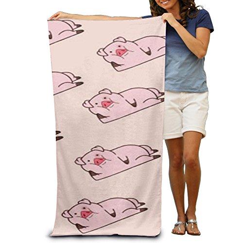 Rosa cerdos adolescentes toalla de playa