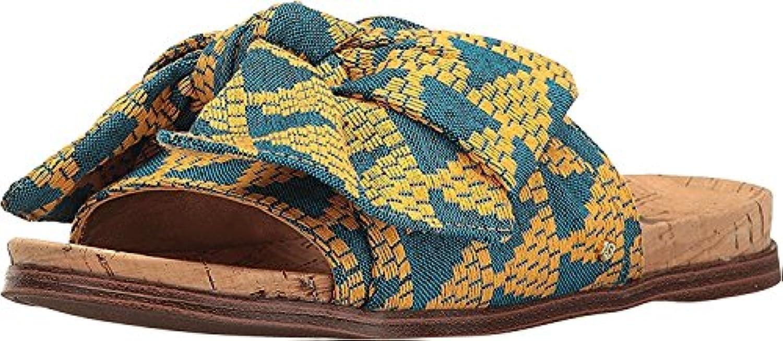 Sandalo Sandalo Sandalo da donna in tessuto multiColoreeee con motivo a triangolo giallo Henna | Moderno Ed Elegante A Moda  1da36d