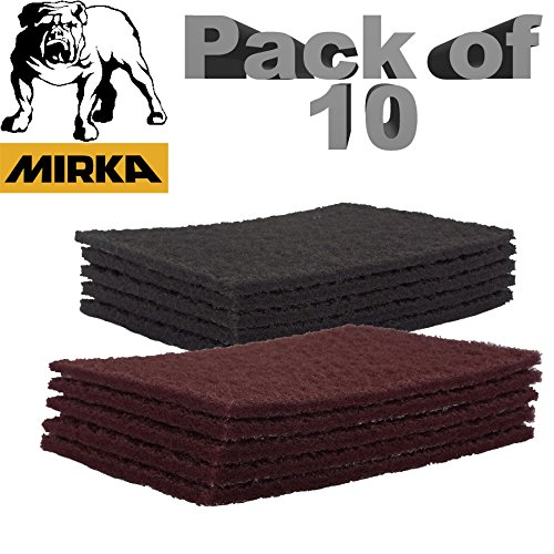 mirka-mirlon-scotchbrite-clean-finishing-hand-pads-mix-grits-5-x-red-very-fine-5-x-grey-ultra-fine-p