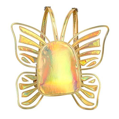 l Wings PU Leder Rucksack Casual Daypack Reisetasche für Frauen ()