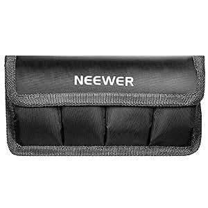 Neewer DSLR Sac de Batterie / Housse / Etui pour AA Batterie et lp-e6 / lp-e8 / lp-e10 / lp-e12 / en-el14 / en-el15 / fw50 / f550 et Plus, Adapté pour Batterie de Nikon D800, Canon 5d MKIII, Sony A77