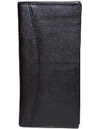 Style98 Black & Red Premium Quality Pure Leather Women's Wallet   Men's Travel Wallet   Unisex Long Wallet