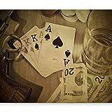 murando - Fotomurali - 400x280 cm - Carta da parati sulla fliselina - Carta da parati in TNT - Quadri murali XXL - Fotomurale - ponte rivoltella soldi poker whisky i-B-0002-a-c
