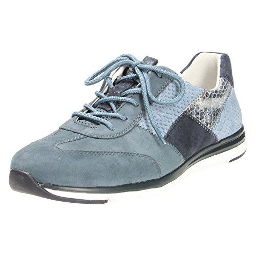 Gabor Damenschuhe 66.306.36 Damen Sneaker, Schnürer, Schnürhalbschuhe Blau (Avio Kombi), EU 5 (Leder-hi-low Rock)