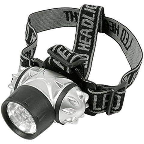 Hito Camping 7LED cabeza linterna luz–plata