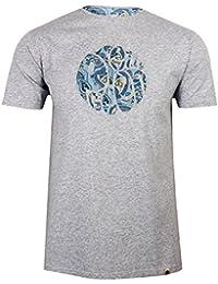 Pretty Green Paisley Print Applique Logo T-Shirt In Grey