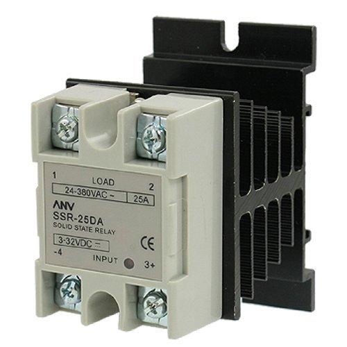 Preisvergleich Produktbild DealMux SSR-25 DA Solid State Relay und der Wärmesenke,  25 Amp,  3 VDC - 32VDC / VAC 24 - 380 VAC