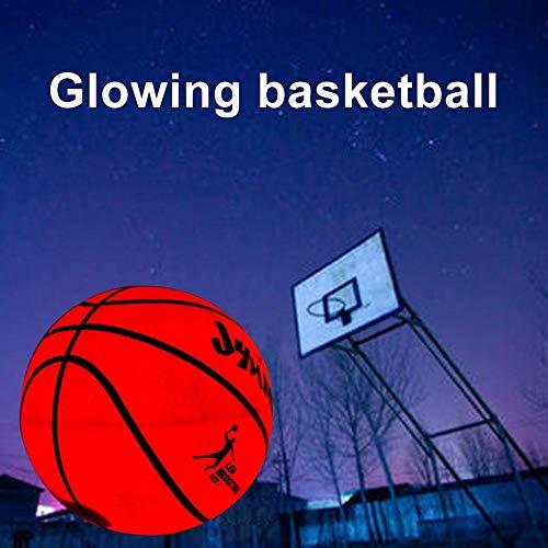 thelastplanet Ballon De Basketball Lumineux Basketball Brillant Balle De Basket avec Batterie Durable Basketball Lueur dans L'obscurité pour Enfants Adultes Jouant/S'entraînant La Nuit en Plein Air