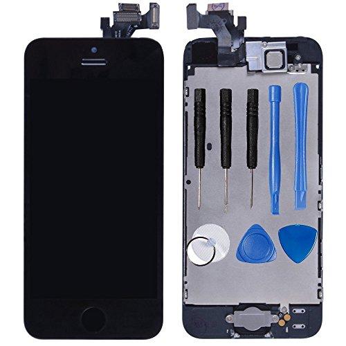 LL TRADER für iPhone 5 Schwarz LCD -Touchscreen-Display Digitales-Glasobjektiv Reparatur-Wiedereinbau mit Werkzeung (einschließlich Kleinteile wie Kamera Sensor Flex Home Button)