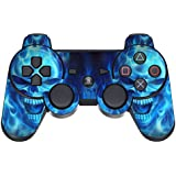GameXcel ® El regulador de Sony PS3 de la piel - Playstation 3 personalizada de vinilo remoto para el parachoques - Play Station 3 Joystick Decal - Blue Daemon [ Controlador no está incluido]