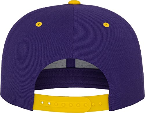 Flexfit Classic Snapback 2-Tone Kappe, Mehrfarbig, one size Purple/Gold