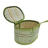 Moon Night cesto in bambù tessuto a mano naturale–utilità di contenitore di stoccaggio, Cesta portatile portatile di regalo di piegatura