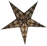 Guru-Shop Faltbarer Advents Leucht Papierstern, Weihnachtsstern Anubis Schwarz, 60x60x20 cm, Star Fensterdeko, 5 Spitzen
