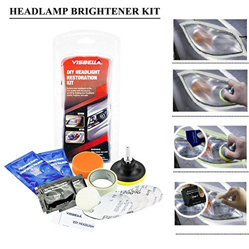 Fancylande Renovateur Phare Voiture Kit, Rénovation Optique de Phare Kit de Polissage Lustreur Réparation Headlight Restore Auto