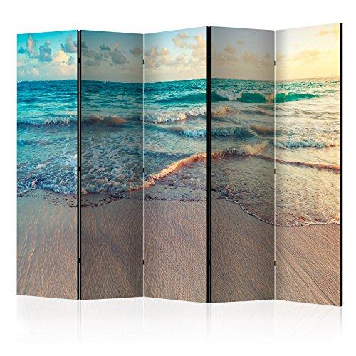 murando - Biombo con Tablero de Corcho - Playa Mar 225x172 cm - de imp