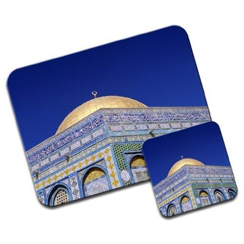 Cupola della Moschea della Roccia di Gerusalemme & Tappetino per mouse e sottobicchiere