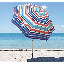 Tommy Bahama - Parasol à rayures - 2,1 mètres