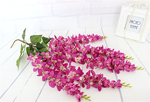 HUAYIFANG Hochzeit Thema Decke Flansch 5 Gabel Emulation Purple Cane Flower Fotografie Hochzeit Thema Hotels Home Szene Ist Rot